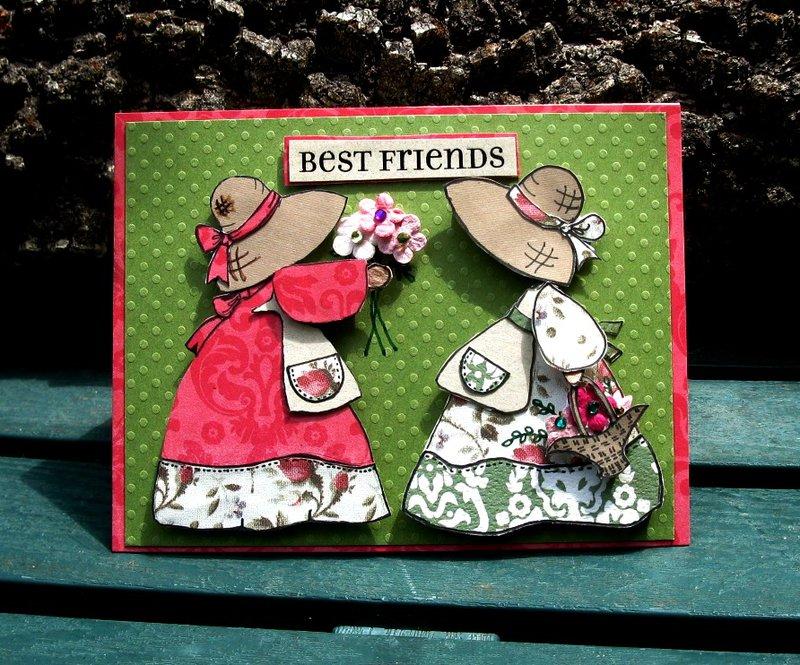 Best Friends Paper Pieced Card