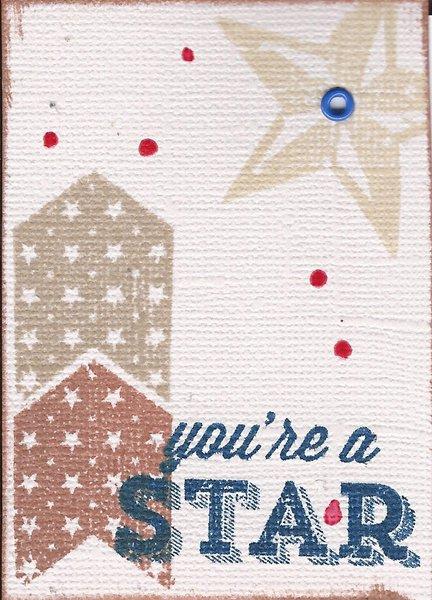 Stamp & Dash ATC Swap #1 - Splatter