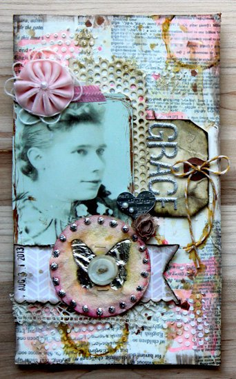 Altered Journal Page - Grace