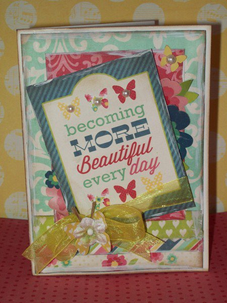 Every Day Card - Little Red Scrapbook July Kit