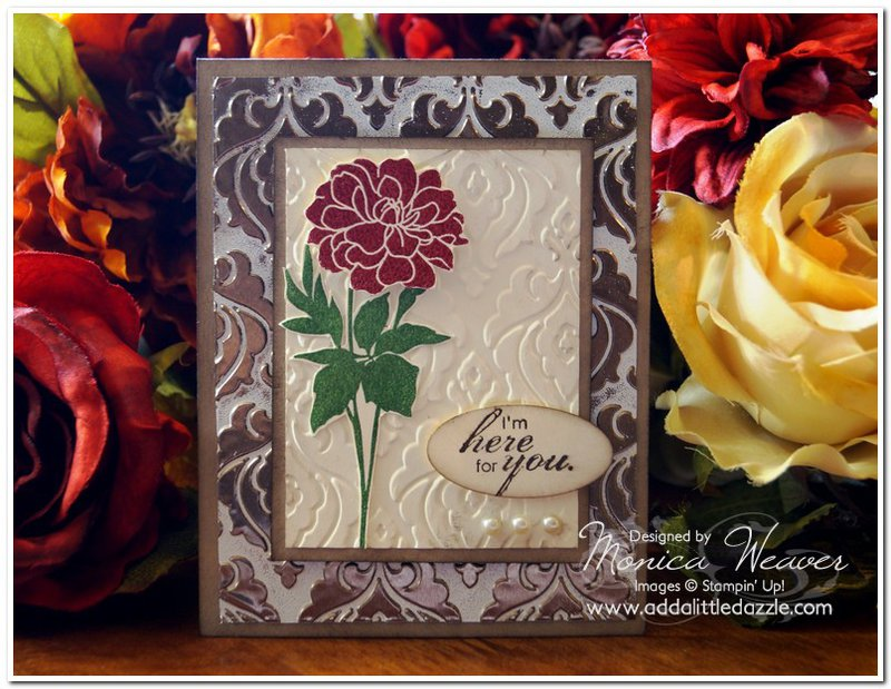 Brayered Embossing Technique Card
