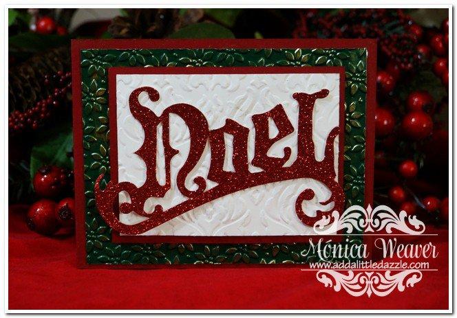 Vintage Noel Christmas Card