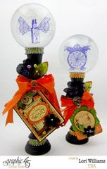 Graphic 45 Eerie Tale Crystal Ball Centerpieces