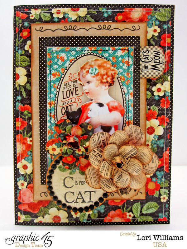 Raining Cats and Dogs Graphic 45 Card