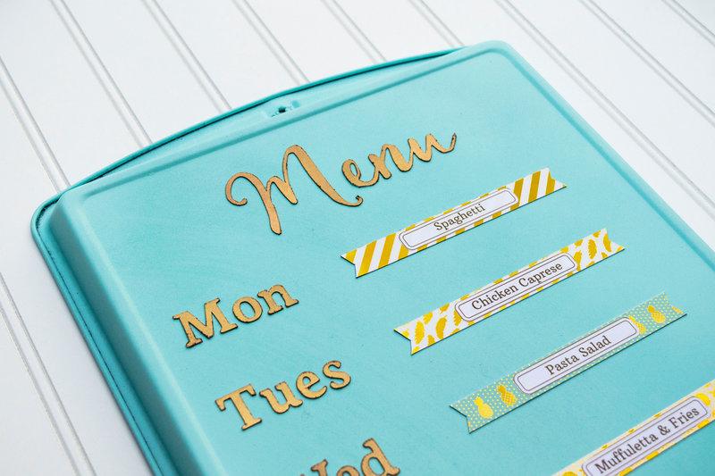 Upcycled Cookie Sheet Menu Board