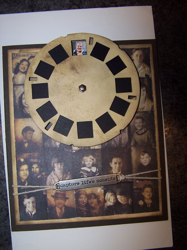 Picture wheel birthday card