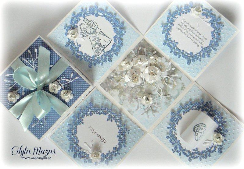 Nots and roses wedding box