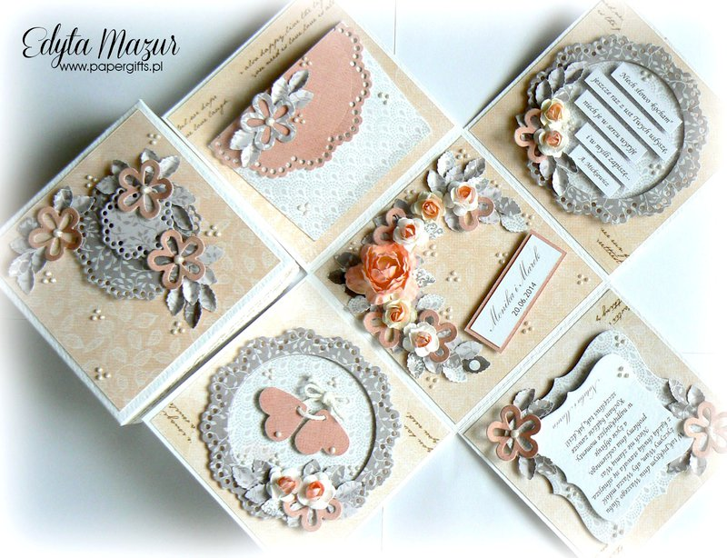Pink-gray box wedding