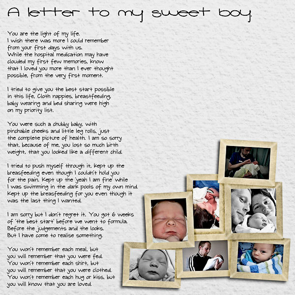 Letter to my Sweet Boy