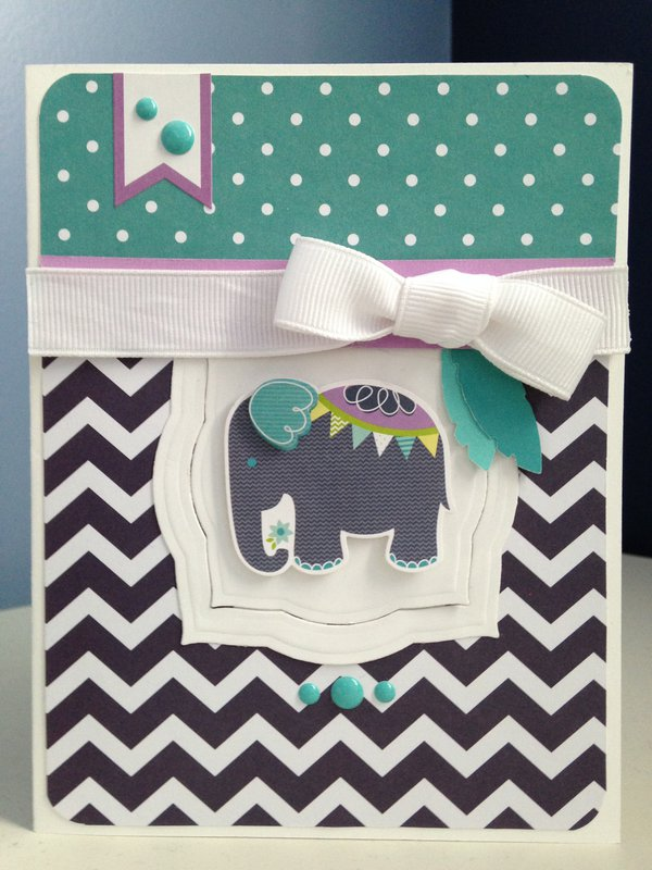 Elephant and Feather card