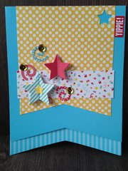 Pop-out Stars Yippie card