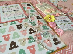 Four-Fold Photo Board 'Baby's First Year' - Detail