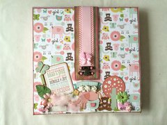 Four-Fold Photo Board 'Baby's First Year' - Front