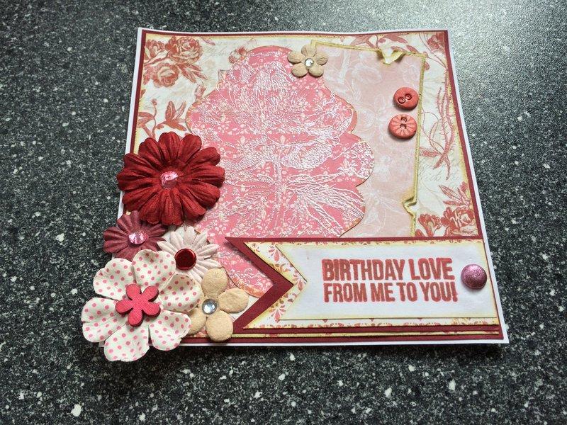 Rose Garden layered card