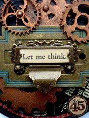 Altered Typography Steampunk Sign