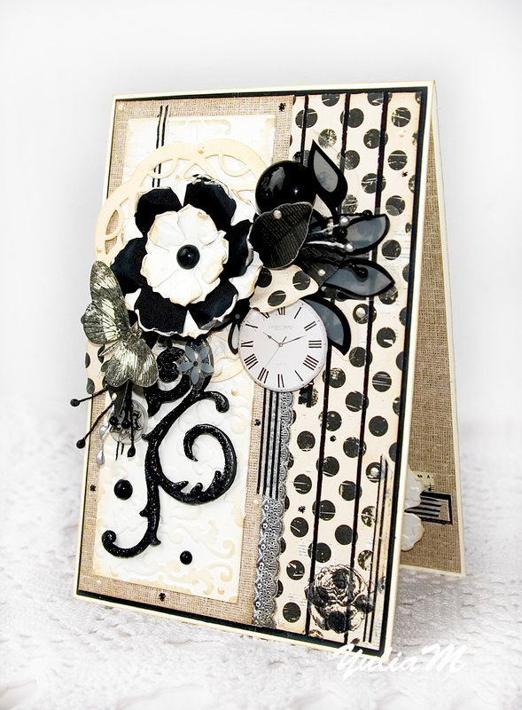 Black and White Prima Card