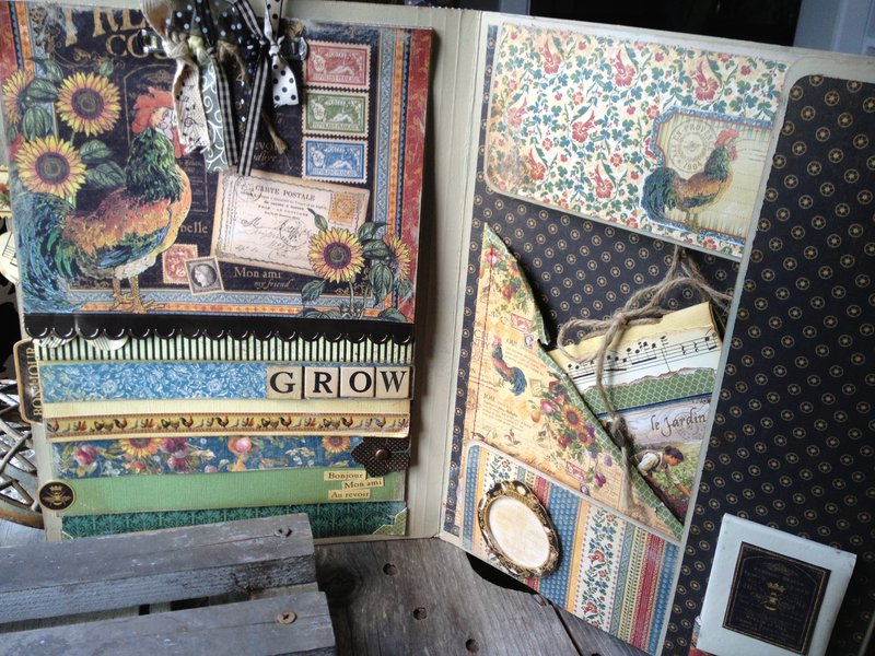 French Country Garden Journal/Portfolio