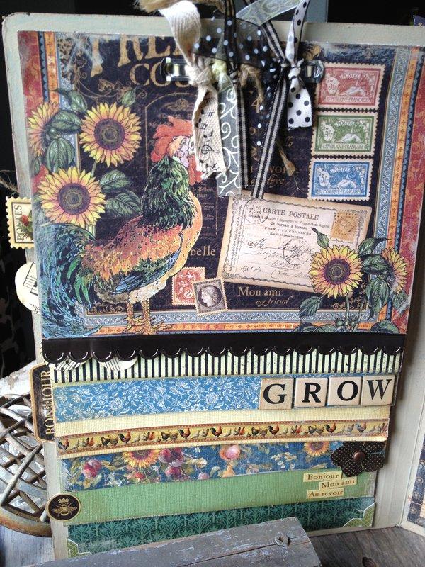 French Country Garden Journal/Portfolio