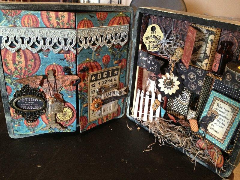 Graphic 45 Steampunk Spells Altered Cigar Box