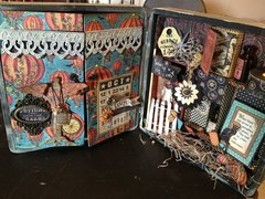 Graphic 45 Steampunk Spells Altered Cigar Box