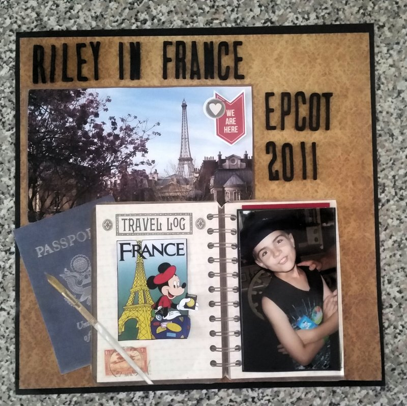 Riley in France-Epcot 2011