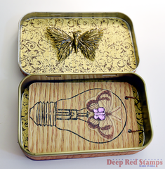 Mini Handmade Notebook from Deep Red Stamps