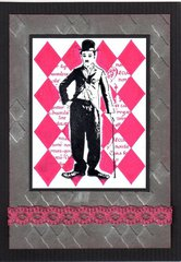 Charlie Chaplin from Deep Red Cling Stamps
