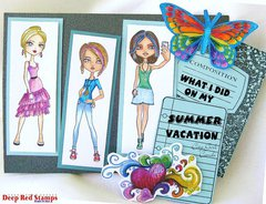 What I did on My Summer Vacation featuring Deep Red Stamps City Girls