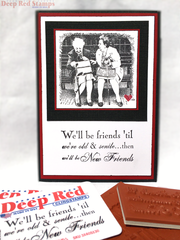 Old Friends Card featuring Deep Red Stamps