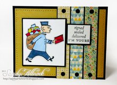 Vintage Air Mail from Deep Red Cling Stamps