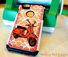 Iphone Cover Decor from Deep Red Stamps and Xyron