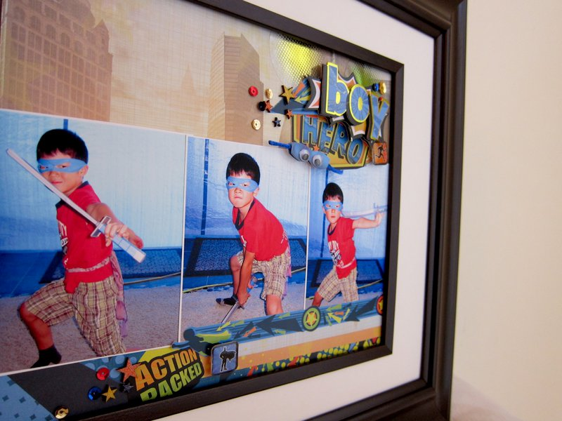 Superhero Boy Wall Hanging - Paper House Productions