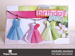 Origami Dress Birthday Girl Card
