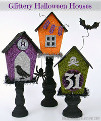 Glittery Halloween Houses