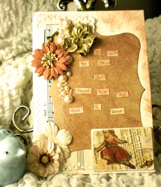 Vintage inspired card with Mumford and Sons quote