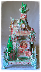 Christmas Chipboard House - Prima Sweet Peppermint