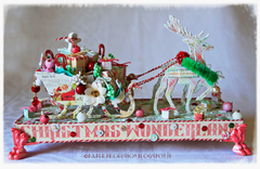 Christmas Sleigh - Prima Sweet Peppermint