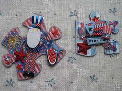 Patriotic puzzle pieces