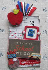 Off To School Library Card