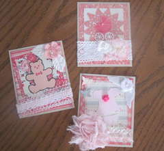 Baby Girl Card/Tag Front Covers