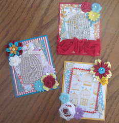 Bird Cage Card/Tag Front Covers