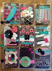 Pink/Teal/Black Pocket Letter