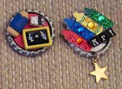School Altered Bottle caps