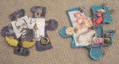 Steampunk/Mermaid Puzzle Pieces