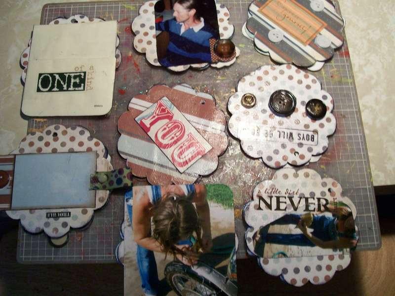 chipboard flower album