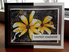 Black-Eyed Susan Sympathy Card