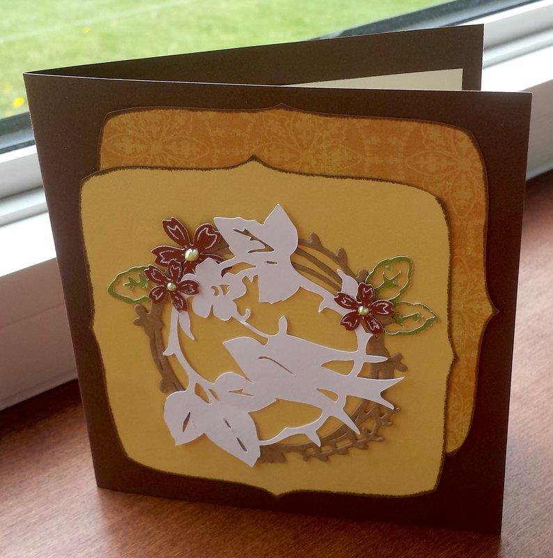 Botanicals Cricut Card