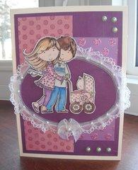 Happy Family Baby Card