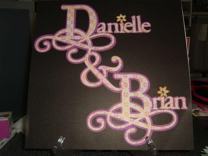 Danielle & Brian Wedding Album Cover