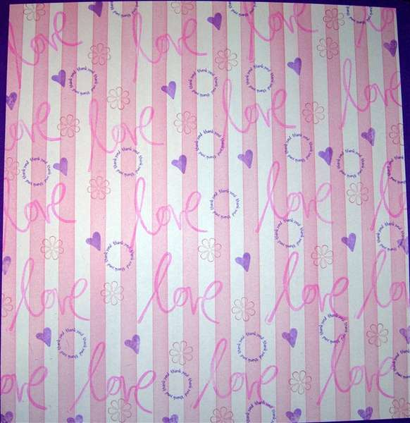 Stamped pattern paper